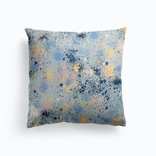 Ink Dust Blue Cushion