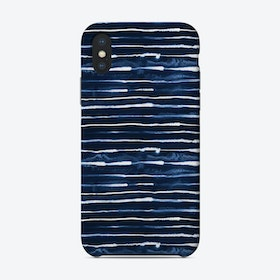 Electric Lines Navy Phone Case