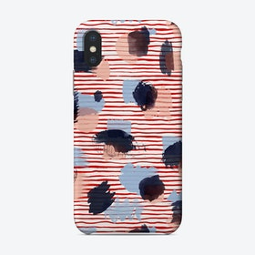 Watercolor Stains Stripes Red Phone Case