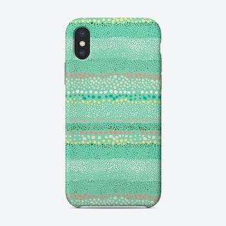 Little Textured Dots Green Phone Case