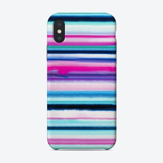 Degrade Stripes Watercolor Pink Phone Case