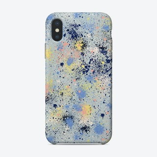 Ink Dust Blue Phone Case
