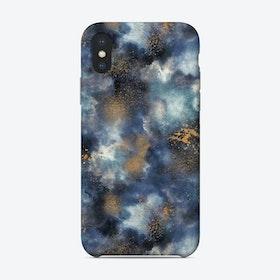 Smoky Marble Watercolor Dark Phone Case