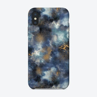 Smoky Marble Watercolor Dark Phone Case