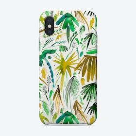Brushstrokes Tropical Palms Green Phone Case