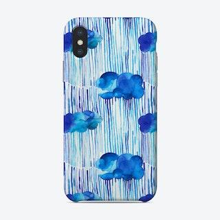 Raining Clouds Blue Phone Case