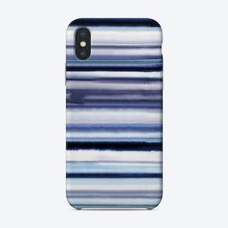Degrade Stripes Watercolor Navy Phone Case