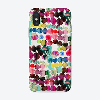 Ink Bleeding Dots Pink Phone Case