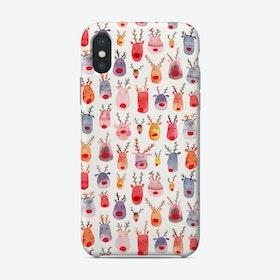 Cute Winter Reindeers Phone Case