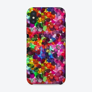 Overlapped Watercolor Dots Phone Case