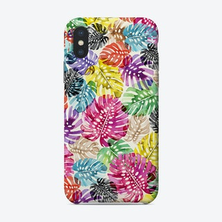 Tropical Monstera Leaves Multicolored Phone Case