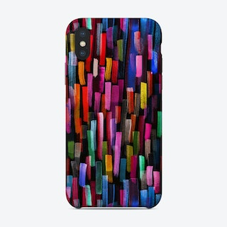 Colorful Brushstrokes Black Phone Case