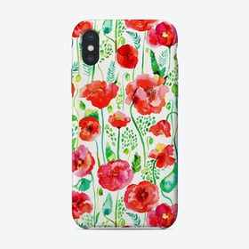 Poppies Red Phone Case
