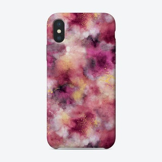Smoky Marble Watercolor Pink Phone Case