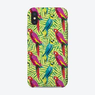 Tropical Parrots Palms Phone Case