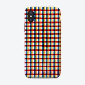 Crossed Eyes Lines Red Phone Case