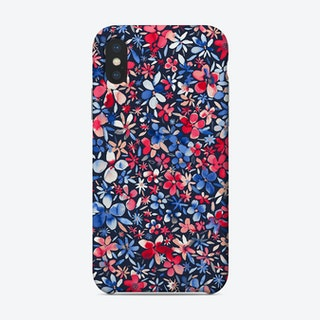 Colorful Little Flowers Navy Phone Case
