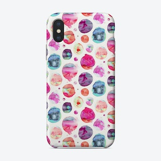 Big Watery Dots Pink Phone Case