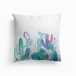 Abstract Cacti Cushion