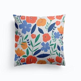Bold Floral Pattern Cushion
