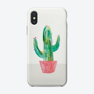 Painted Cactus In Coral Pot Phone Case Phone Case