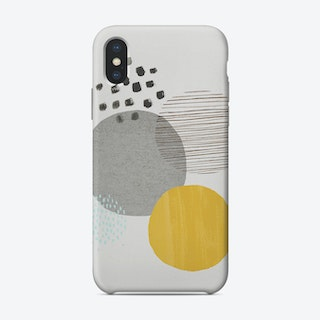 Abstract Mustard And Concrete Phone Case Phone Case