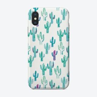 Painted Cactus Pattern Phone Case Phone Case