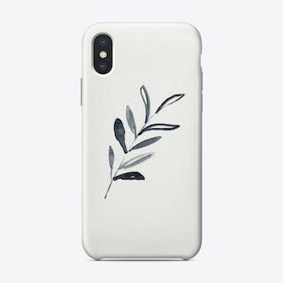 Inky Sprig Foliage Phone Case Phone Case