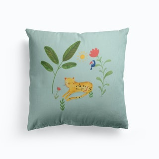 Jungle Leopard Canvas Cushion