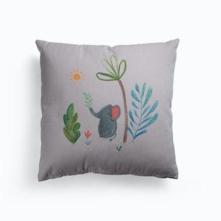 Jungle Elephant Canvas Cushion