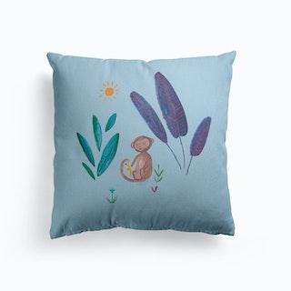 Jungle Monkey Canvas Cushion