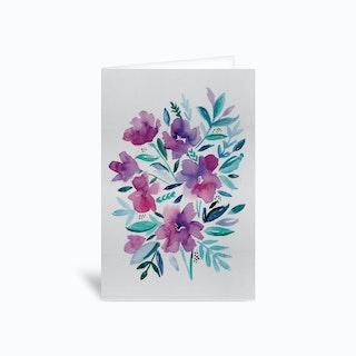Loose Floral Greetings Card
