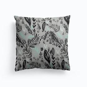 Inky Jungle Cushion