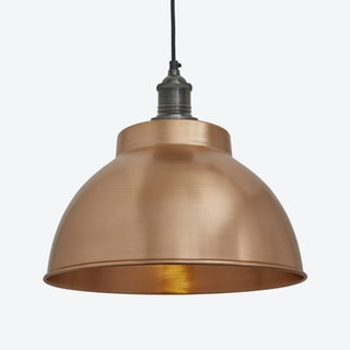 BROOKLYN Dome Pendant Light in Copper w/ Pewter Holder