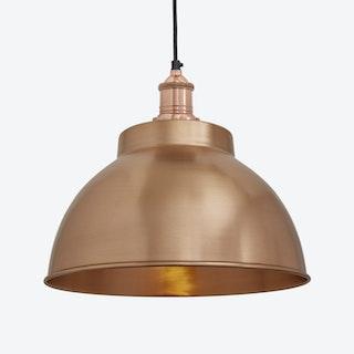 BROOKLYN Dome Pendant Light in Copper w/ Copper Holder