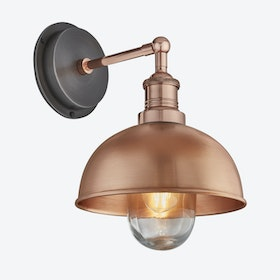 BROOKLYN Dome Wall Light in Copper w/ Copper Holder