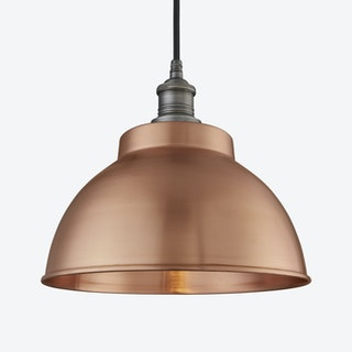 BROOKLYN Dome Wall Light in Copper w/ Pewter Holder