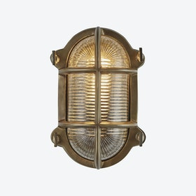 BULKHEAD Round Light in Brass