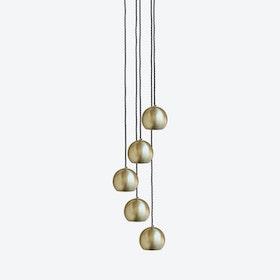 GLOBE Pendant Light in Brass - 5 Wire