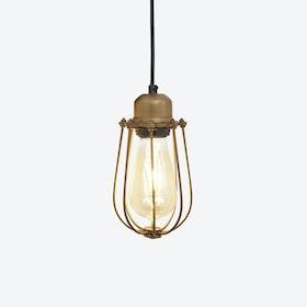 ORLANDO Wire Cage Pendant Light in Brass