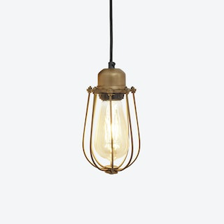 ORLANDO Wire Cage Pendant Light in Brass