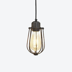 ORLANDO Wire Cage Pendant Light in Pewter