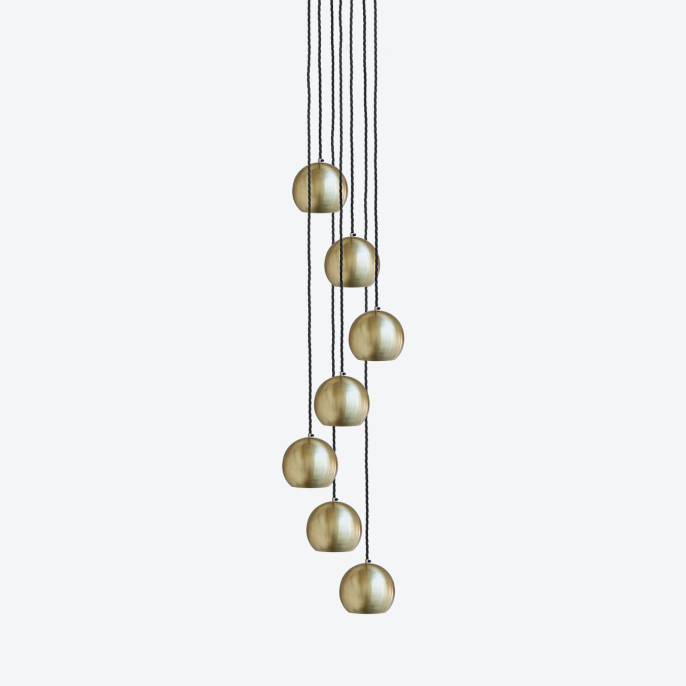 cinco 2 pendant light - white w   imitation gold leaves by bulb attack