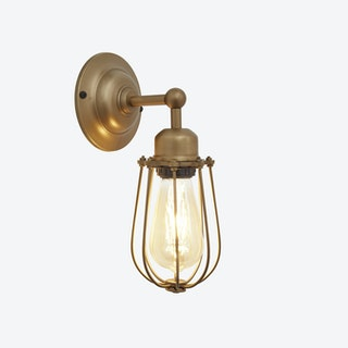 ORLANDO Wire Cage Wall Light in Brass