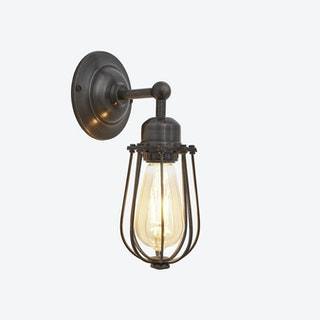 ORLANDO Wire Cage Wall Light in Pewter