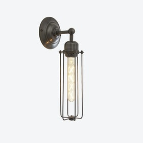 ORLANDO Cylinder Wall Light in Pewter