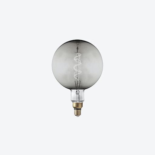 LED Edison Bulb Old Filament Lamp in Smoke Grey - Spiral Globe G200