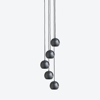 GLOBE Pendant Light in Pewter - 5 Wire