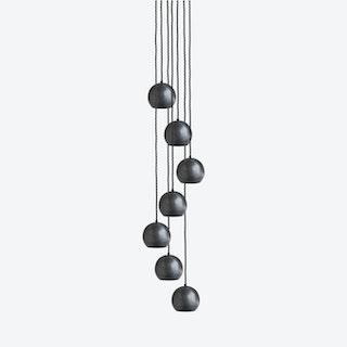 GLOBE Pendant Light in Pewter - 7 Wire