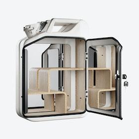 Moscow White Bathroom Cabinet w/ Oak Veneer Shelves